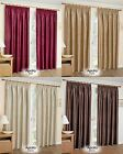 THERMAL LINED BLOCKOUT CURTAINS TAPE TOP CURTAIN RED WINE CREAM CHOCOLATE GOLD