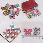 50pcs 2Holes Sewing Craft Bulk Bowknot Wooden Buttons Fit Scrapbook And DIY New