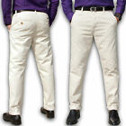 Mens Chino Trousers Stallion Cotton Regular Pants Slim Fit Casual Khaki New S