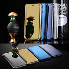 Luxury Ultra-Thin View Flip View Mirror Clear leather Case For Iphone 6s 6 Plus