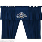 Milwaukee Brewers Drapes Curtains & Valance Set with Tie Backs