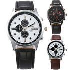 C8 US New Men Casual Watches Fashion PU Leather Strap Date Quartz Watches