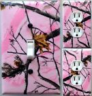 decorate light switch covers - Pink realtree Camouflage  Light Switch wall plate covers bedroom decor