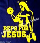 REPS FOR JESUS VEST tank top bro weight lifting gym muscle training science NLO