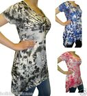 NEW LADIES WOMANS SEXY SUMMER HOLIDAY TIE DYE TOP PLUS SIZE 12-26 HANKY