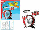 Childrens Gift Kids Drum Set Kit Musical Fun Toy Drum with Sticks and Stool
