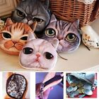 New Kids Cute Animal Face Zipper Coin Purse Lady Love Friends Wallet Makeup Bag