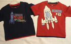 FADED GLORY Size 3T or 4T Red Navy Choice Outer Space Short Sleeve Shirt NWT