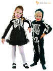 Age 2-3 Childrens Skeleton Costume Boys Girls Toddler Kids Halloween Fancy Dress