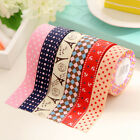 Satin Lace Decorative Tape Washi Fabric Tape Stickers Masking Tape Home Decor