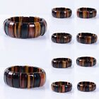"24mm Golden blue red tiger eye stretchable bracelet ""each one picture"""