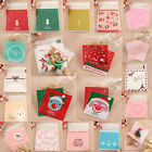 100pcs 10*10cm Cello Cookies Candy Bags Sweet Party Gift Christmas Xmas Santa