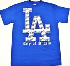 LA Dodgers T-shirt Los Angeles City Of Angeles Tee Adult Mens S-3XL Blue New