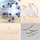 Lots Plated Elbow Noodle Curved Tube Smooth Spacer Loose Bead Jewelry Findings