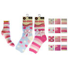 Womens Co-Zees Fluffy Bedsocks Thermal Socks Sherpa Socks 1 Pair Size 4-7 UK