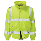 Mens Raiken Hi Vis Visibility Bomber Jacket High Viz Work-Wear Yellow Coat Size