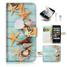 iPhone 5 5S Flip Wallet Case Cover! P1869 Starfish