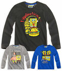 Boys Official Nickelodeon SpongeBob SquarePants Long Sleeved T Shirt Ages 4-12