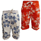 South Shore MS18948 Mens Hawaiian Print Summer Swim Board Surf Shorts RRP £24.99