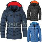 Mens Smith & Jones Quilted Bubble Jacket Padded Tech Zip Up Hooded Winter Coat