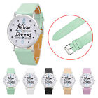 Hot New Girl's Women Fresh Analog Pattern Quartz LeatherRound Case Wrist Watch