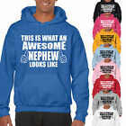 THIS IS WHAT AN AWESOME NEPHEW LOOKS LIKE ADULT HOODIE - GIFT UNISEX HOOD