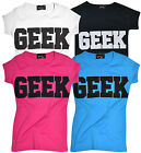 Kids T-Shirt Geek Print Girls Boys Tee Top Cotton T Childs Teen New 7 -13 yrs