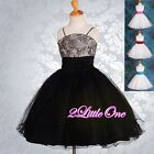Embossed Flower Girls Wedding Pageant Party Occasion Dresses Size 2T-10 FG160