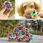 Hot Pet Dog Cat Colorful Chew Rubber Ball Squeaky Sound Fun Training Palying Toy