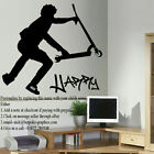 EXTRA LARGE PERSONALISED STUNT SCOOTER WALL TRANSFER ART STICKER POSTER DECAL