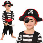 Childrens Deckhand Pirate Costume New Boys Girls Fancy Dress Kid Party Outfit