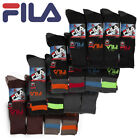 8 Pair Men's FILA XTREME Thermal Athletic Sport Socks Stripes Breathable Comfort