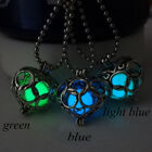 Retro Luminous Pretty Magic Heart Fairy Locket Pendant Glow In The Dark Necklace