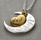 """Family """"I LOVE YOU TO THE MOON AND BACK"""" necklace pendant for Mom Dad Grandma"""