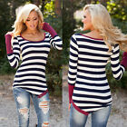 Sexy Women Ladies Casual Long Sleeve Crewneck Loose Blouse Sexy Tops T Shirt