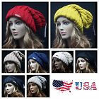 Mens Women Knit Baggy Beanie Cap Oversize Winter Slouch Extra Long Fashion Hat