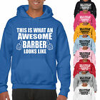 THIS IS WHAT AN AWESOME BARBER LOOKS LIKE ADULT HOODIE - GIFT UNISEX HAIR