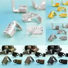 20g(60/100pcs) New Iron Ribbon Necklace Cord Clamps End Tips 10x9x5/13x11x6mm