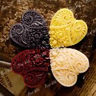 2/4pcs New Resin Lucite Cabochons Flatbacks Peony Heart Cameo DIY 49.5x45x8mm