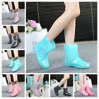 Pure Color Girls Jelly Waterproof Women Snow Ankle Rain Boots