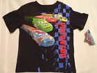 DISNEY Cars 3T Navy Short Sleeve Boys Cotton Shirt Top NWT Piston Cup