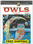 Coloring Book For Adults Beautiful Owls Anti Stress Therapy NEW FREE SHIPPING