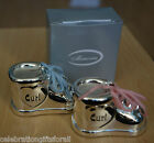 Silver Plated Curl Bootee Trinket Box - Boy or Girl Christening Gift