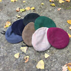 BRITISH ARMY SURPLUS ISSUE WOOL & LEATHER BAND BERET,BLUE,KHAKI,GREEN,MAROON