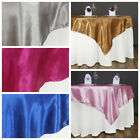 "60"" Embossed Satin TABLE OVERLAY Designer Wedding Party Catering Event Linens"