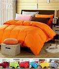 Solid Single/Double/King Super King Sizes Bedding Quilt/Doona/Duvet Cover Set