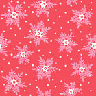 PINK SNOWFLAKES ON RED -   CHRISTMAS DREAMS DASHWOOD 100% COTTON FABRIC