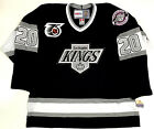 LUC ROBITAILLE LOS ANGELES KINGS 1991 NHL 75TH CCM VINTAGE BLACK JERSEY NEW