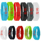 Boys(Girl) Rubber Silicone Red LED Watch Sport Bracelet Digital Wristwatches New