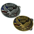 Buckle Rage Men American Pride W/ Eagle And USA Flag Belt Buckle Antiqued Finish